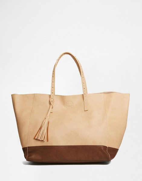 Urban Originals Shopper Bag in brown - Cart by Urban Originals, Faux-leather outer, Contrast...