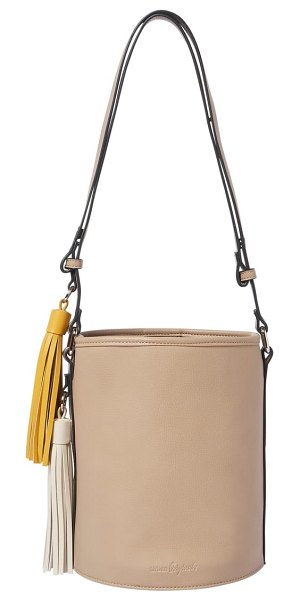 Urban Originals two lovers vegan leather bucket bag in beige - Contrasting tassels up the trend factor of a...
