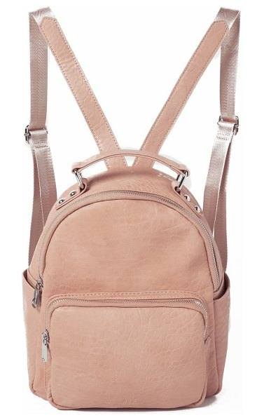 Urban Originals vegan leather mini backpack in pink