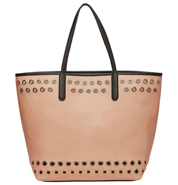 URBAN ORIGINALS wonderland faux leather tote & shoulder bag - Gleaming grommets add a bit of rock-and-roll attitude to...