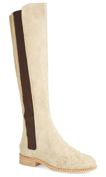 Free People callow tall boot in sand leather - Chelsea-boot style takes a dramatic turn on a tall...