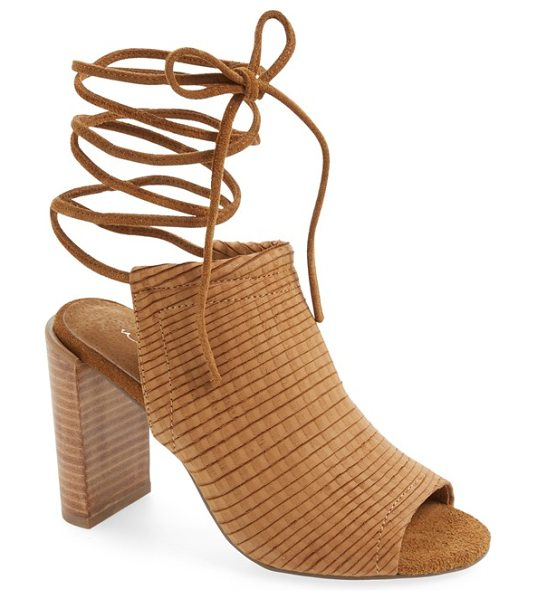 Urge eve lace-up mule sandal in tan leather - A contemporary mule sandal with slender, leg-wrapping...