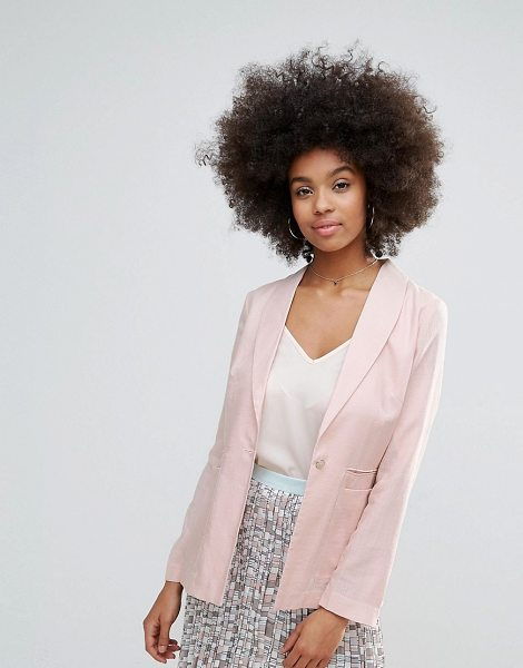 "Uttam Boutique Blazer Jacket in pink - """"Blazer by Uttam Boutique, Lightweight woven fabric,..."