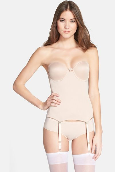 VA BIEN ultra lift hourglass bustier in nude - Foam underwire cups lift and define the figure in this...