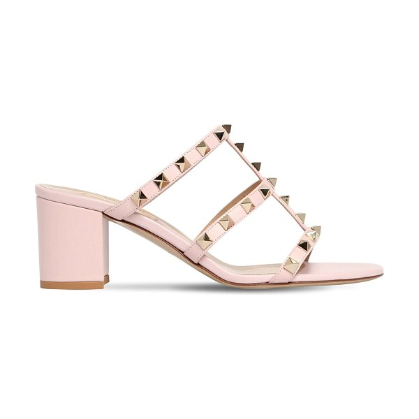 Valentino 60mm rockstud leather sandals in rose