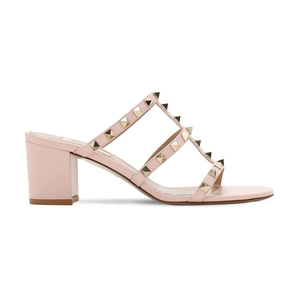 Valentino 60mm rockstud leather sandals in poudre