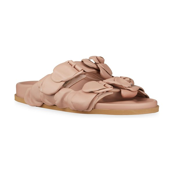 Valentino Atelier 03 Rose Edition Slide Sandals in pink