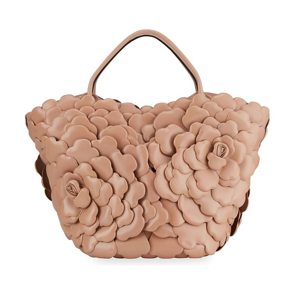 Valentino Atelier Rose 03 Edition Medium Leather Bucket Bag in pink