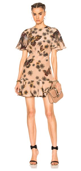 Valentino Butterfly Dress in floral,brown,neutral - Self: 100% silk - Lining: 91% silk 9% elastan.  Made in...
