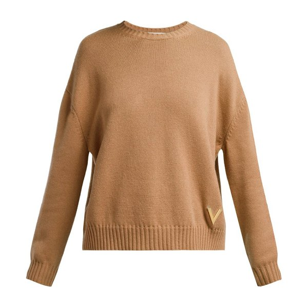 Valentino cashmere sweater in camel - Valentino - An understated, fuss-free aesthetic defines...