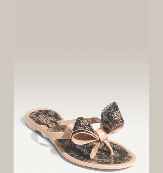 VALENTINO couture bow thong sandal - An ultra-femme, oversized bow elevates a casual thong sandal.