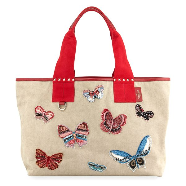 316d97df7 Valentino Grande Plage Butterfly Embroidered Tote Bag | Nudevotion