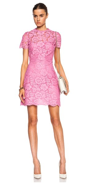 Valentino Heavy lace knit dress in pink,floral