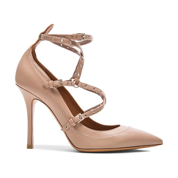 Valentino Love Latch Ankle Strap Leather Heels in neutrals - Leather upper and sole.  Made in Italy.  Approx 100mm/ 4...