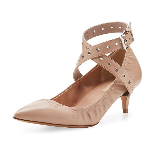 Valentino Love Latch Leather 45mm Pump in poudre