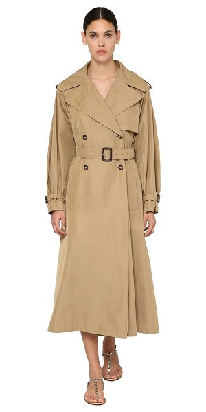 Valentino Metal v logo tech gabardine trench coat in beige