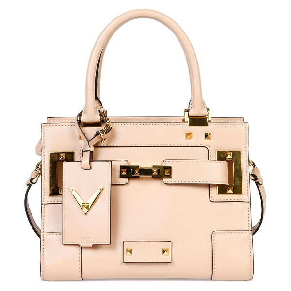 Valentino My rockstud mini top-handle tote bag in taupe