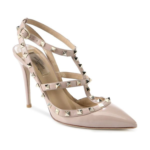 f4c709468 Valentino Rockstud Patent Leather Slings | Nudevotion