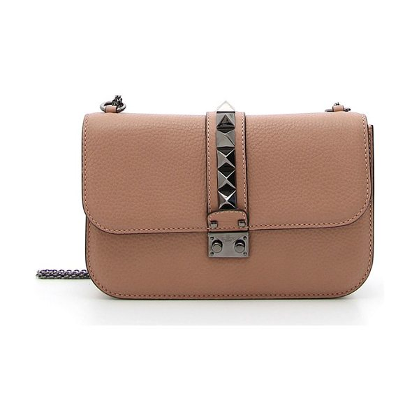 Valentino 'rockstud in soft noisette - This version of the iconic Rockstud shoulder bag...