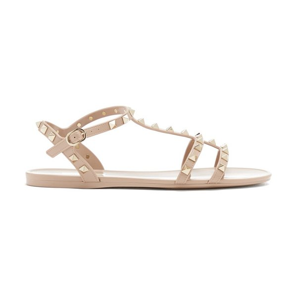 Valentino rockstud jelly sandals in nude