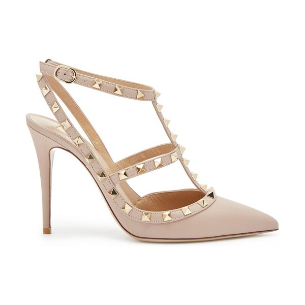 Valentino Rockstud Leather Pumps in nude - Valentino - For Pre-AW18, Valentino's coveted leather...