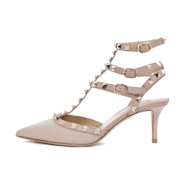 Valentino Rockstud leather slingbacks t.65 in neutrals - Leather upper and sole.  Made in Italy.  Approx 60mm/...