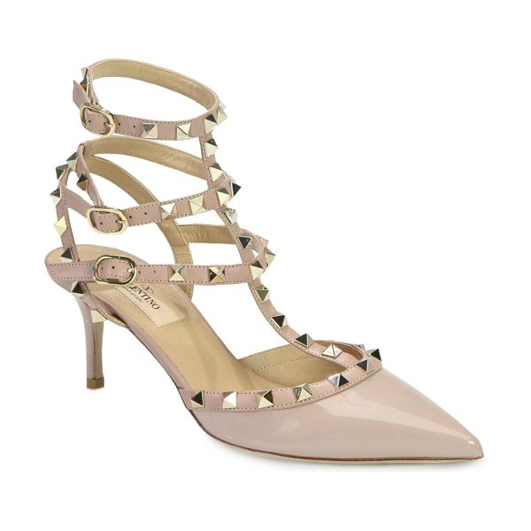 VALENTINO rockstud patent leather pumps - Iconic metal studs add street-style cool to this...