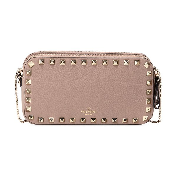 Valentino Rockstud Small Chain Shoulder Bag in beige