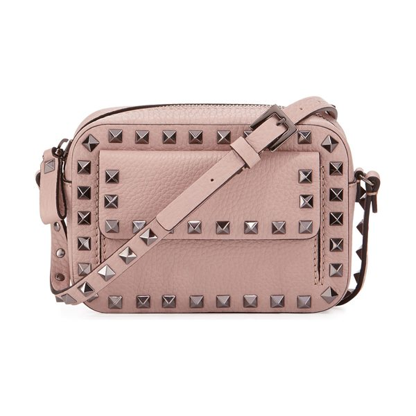 VALENTINO Rockstud Small Flap Pocket Camera Crossbody Bag - Valentino grained leather camera crossbody bag....