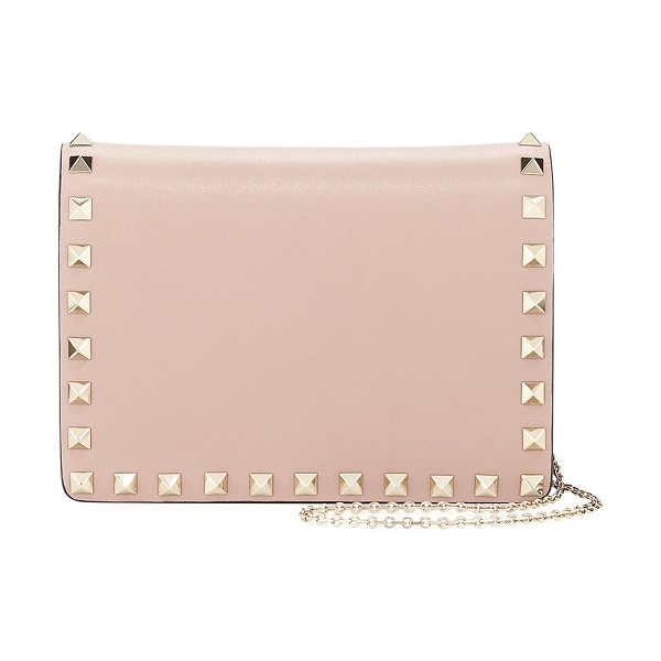 VALENTINO Rockstud Smooth Leather Pouch Crossbody Bag - Valentino Garavani calf leather pouch bag with signature...
