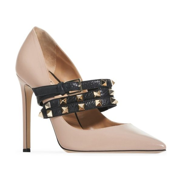 VALENTINO rockstud wrap pump - A classic pointy-toe pump elevated by a towering...