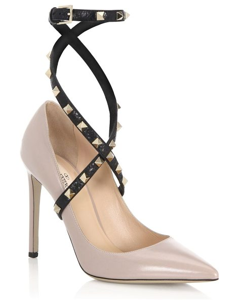 Valentino Studwrap Leather Ankle-Strap Pumps