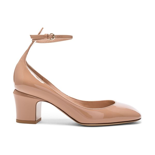 Valentino Patent Leather Tan-Go Pumps in neutrals - Patent leather upper with leather sole.  Made in Italy. ...