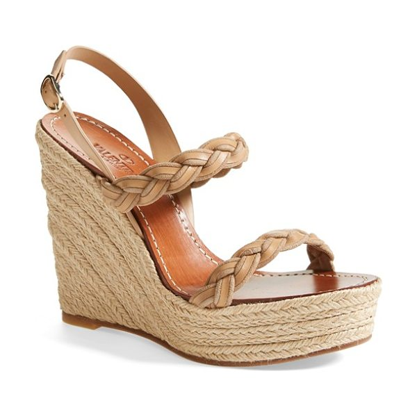 VALENTINO twist espadrille wedge sandal - A pared-down sandal adds another dimension to your...