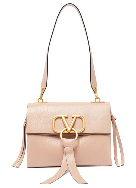 Valentino v ring small leather shoulder bag in light pink