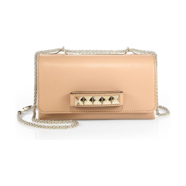 Valentino va-va-voom shoulder bag in taupe - A smooth, supple nappa leather bag that features...