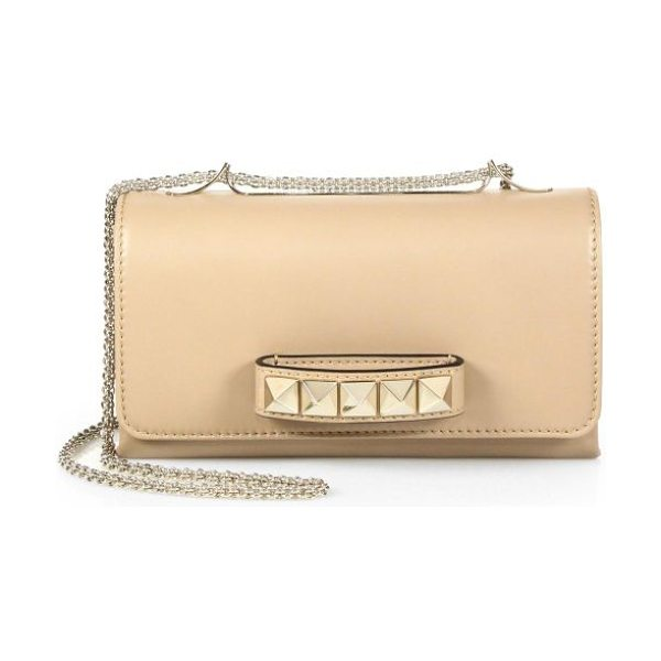 Valentino va-va-voom shoulder bag in nude - A smooth, supple nappa leather bag that features...