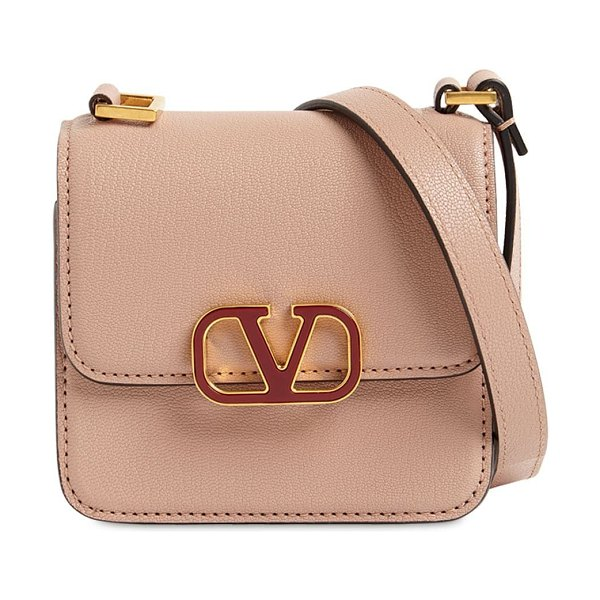Valentino Vsling micro grained leather bag in rose canelle