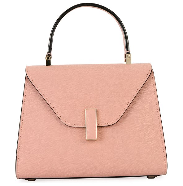 Valextra Iside Mini Leather Satchel Bag in light pink