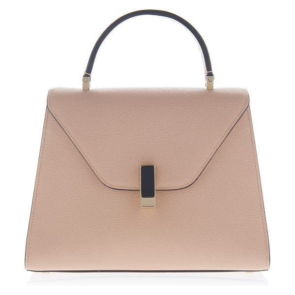 Valextra Medium Iside Top Handle in pink - This *Valextra* Iside leather bag is a classic style for...