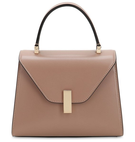 Valextra Mini iside brushed leather bag in beige