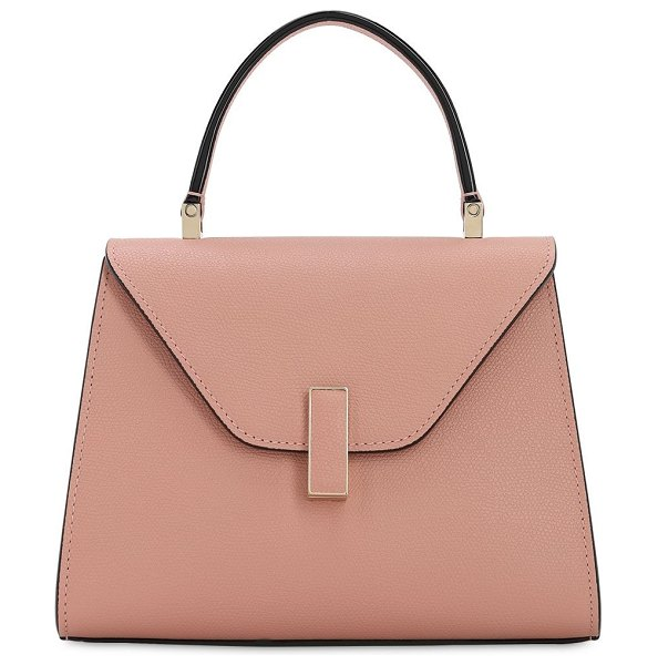 Valextra Mini iside grained leather bag in rosa polvere