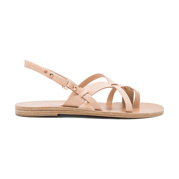 Valia Gabriel Wailea Sandal in natural - Leather upper and sole. Ankle strap with notch closure....
