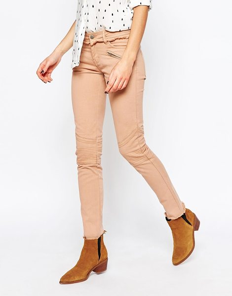Vanessa Bruno Athe e Daryl Skinny Jeans with Raw Trim in pink