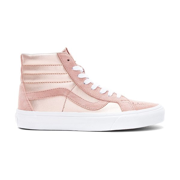 VANS 2-Tone Metallic Sk8-Hi Reissue Sneaker - Metallic leather and suede upper with rubber sole....