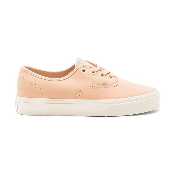 Vans Authentic DX Sneaker in tan - Leather upper with rubber sole. Lace-up front....