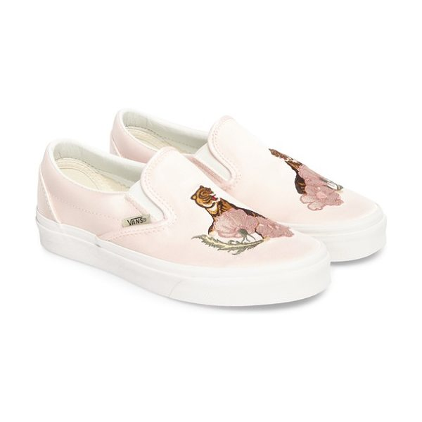 Vans classic dx slip-on sneaker in rose dust/ blanc de blanc - A woven finish breaks up the lively patterns of a...