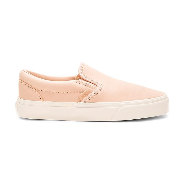 Vans Classic Slip On DX Sneaker in beige - Leather upper with rubber sole. Slip-on styling. Vans...