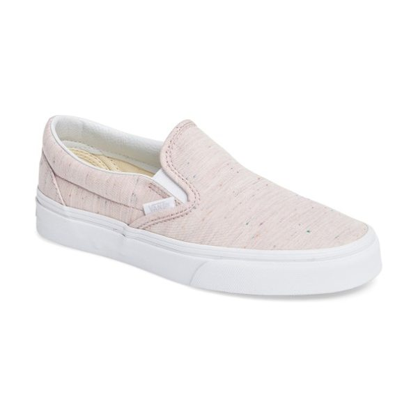 VANS classic slip-on sneaker in speckle pink/ true white - A must-have for your weekend wardrobe. This iconic skate...