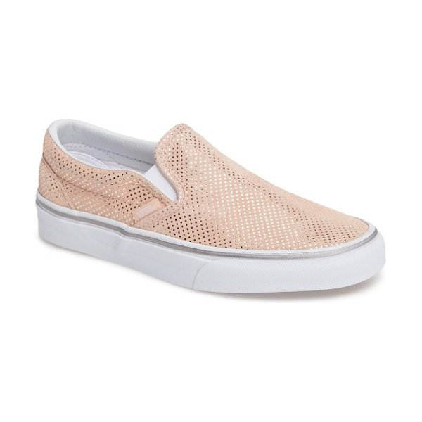 Vans classic slip-on sneaker in metallic dots/ rose - A classic slip-on sneaker is given a street-style update...